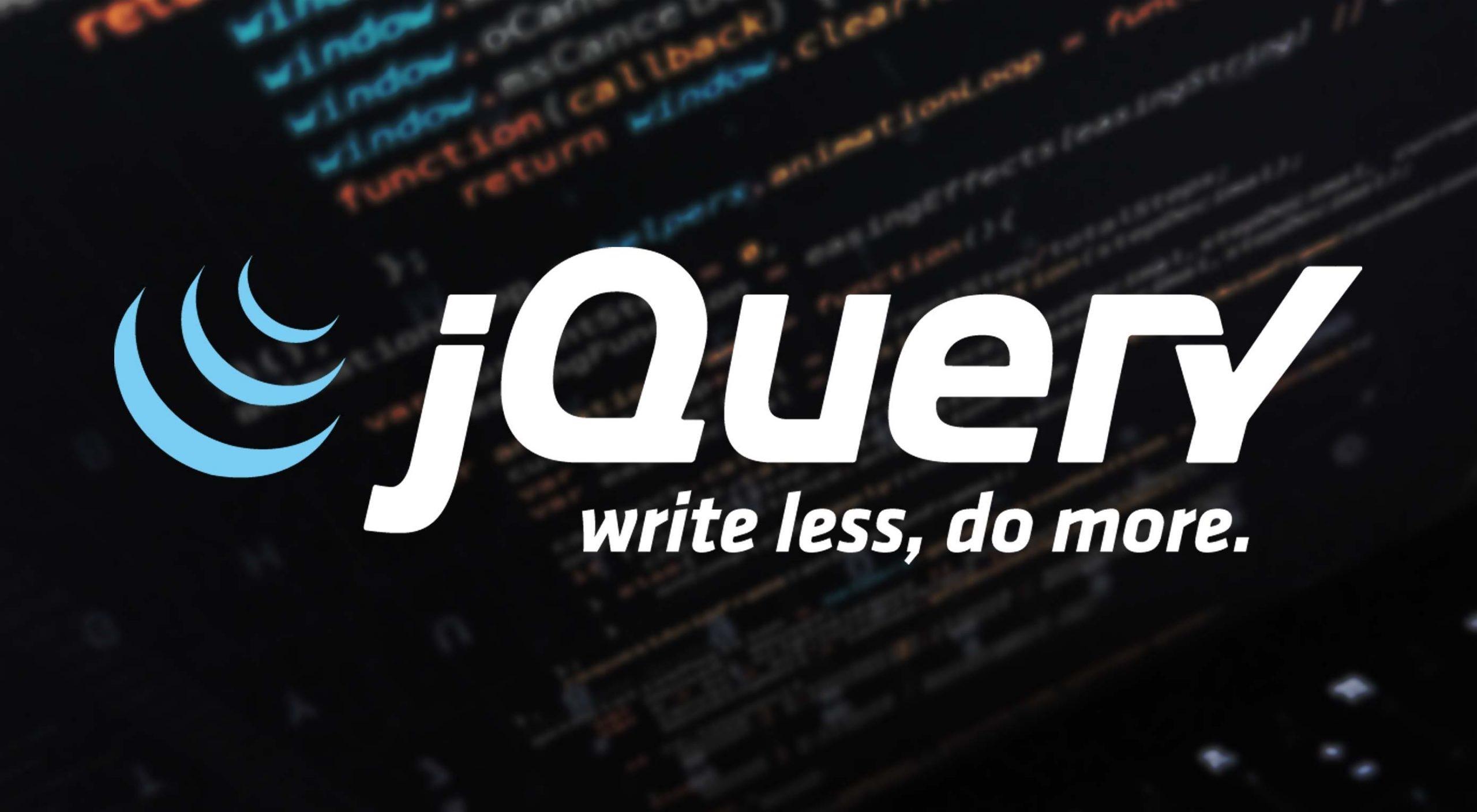 jQuery Unggul Dalam Pembuatan Kode JavaScript