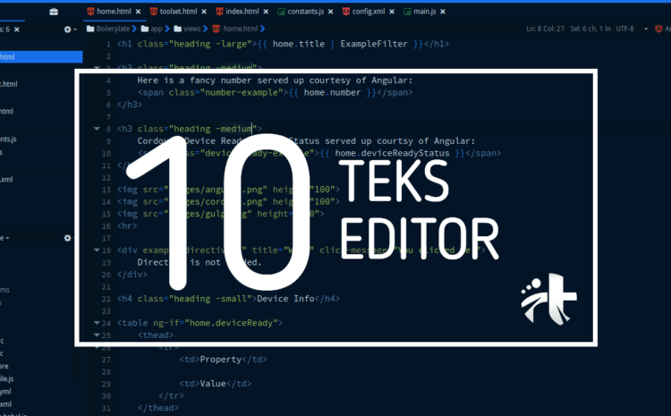 10 Text Editor Terbaik Untuk Para Pemrogramer