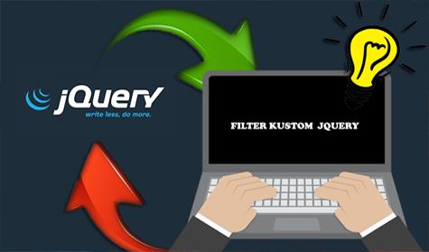 Membuat Filter Kustom di jQuery