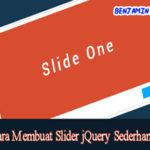 Cara Membuat Slider jQuery Sederhana